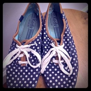 Women's Navy Polka Dot Keds